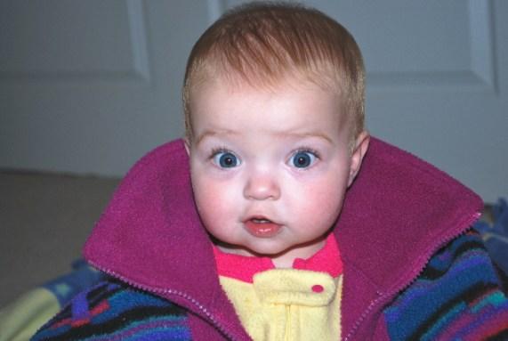 Me in my Mama's fleece!