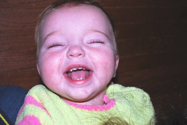 Me crackin up.... look you can see eight teeth!
