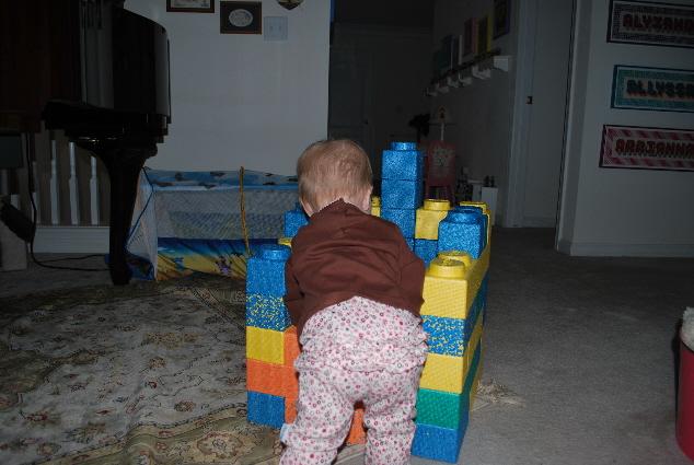 Hard at work constructing....