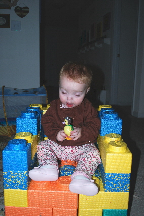 Look a princess chair made of Legos!