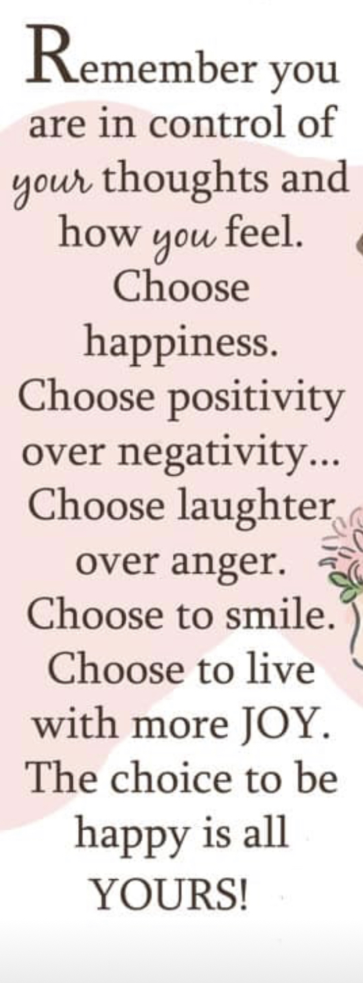 Choose love- choose happiness!