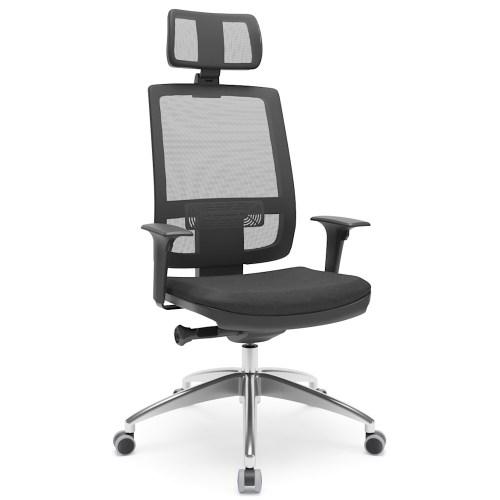 cadeira Brizza Presidente com mecanismo auto ajustável