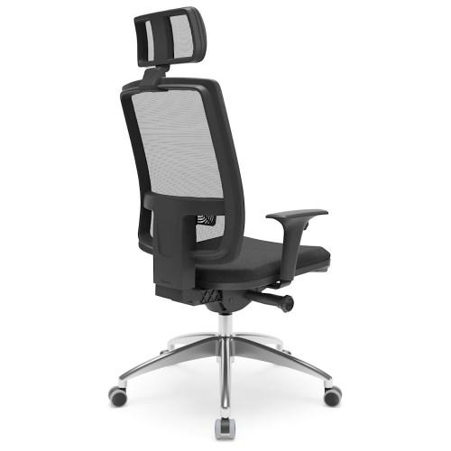 cadeira de escritório Brizza Presidente com mecanismo auto ajustável