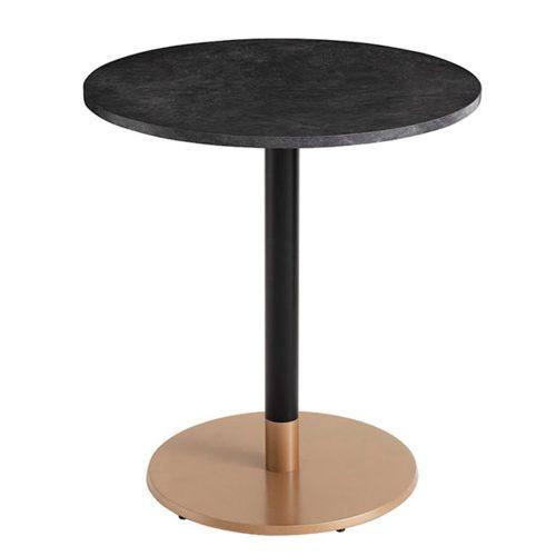 mesa lateral base redonda plana