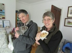 Midge with Uncle Barry and Kevin with Auntie Shirley