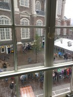 View of Westerkerk from inside Westermarkt 6 - the view Descartes would have seen.