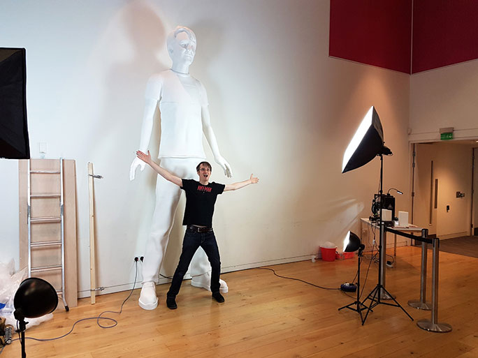 Tallest 3D printed sculpture of a human James