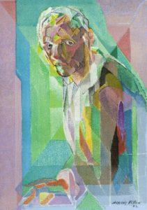 Autoportrait par J. Villon, 1942