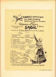 guirand de scevola cabaret des quat z arts programme