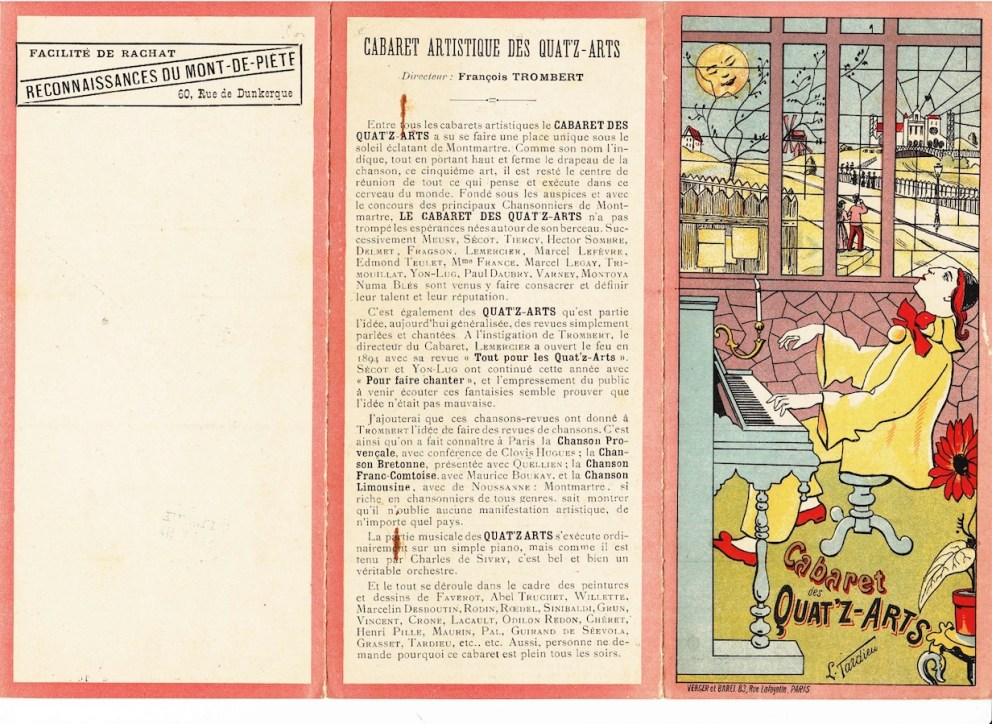 guirand de scevola cabaret des quat z arts publication
