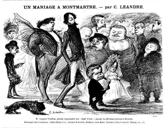 mariage au montmartre auguste tuaillon guirand de scevola leandre