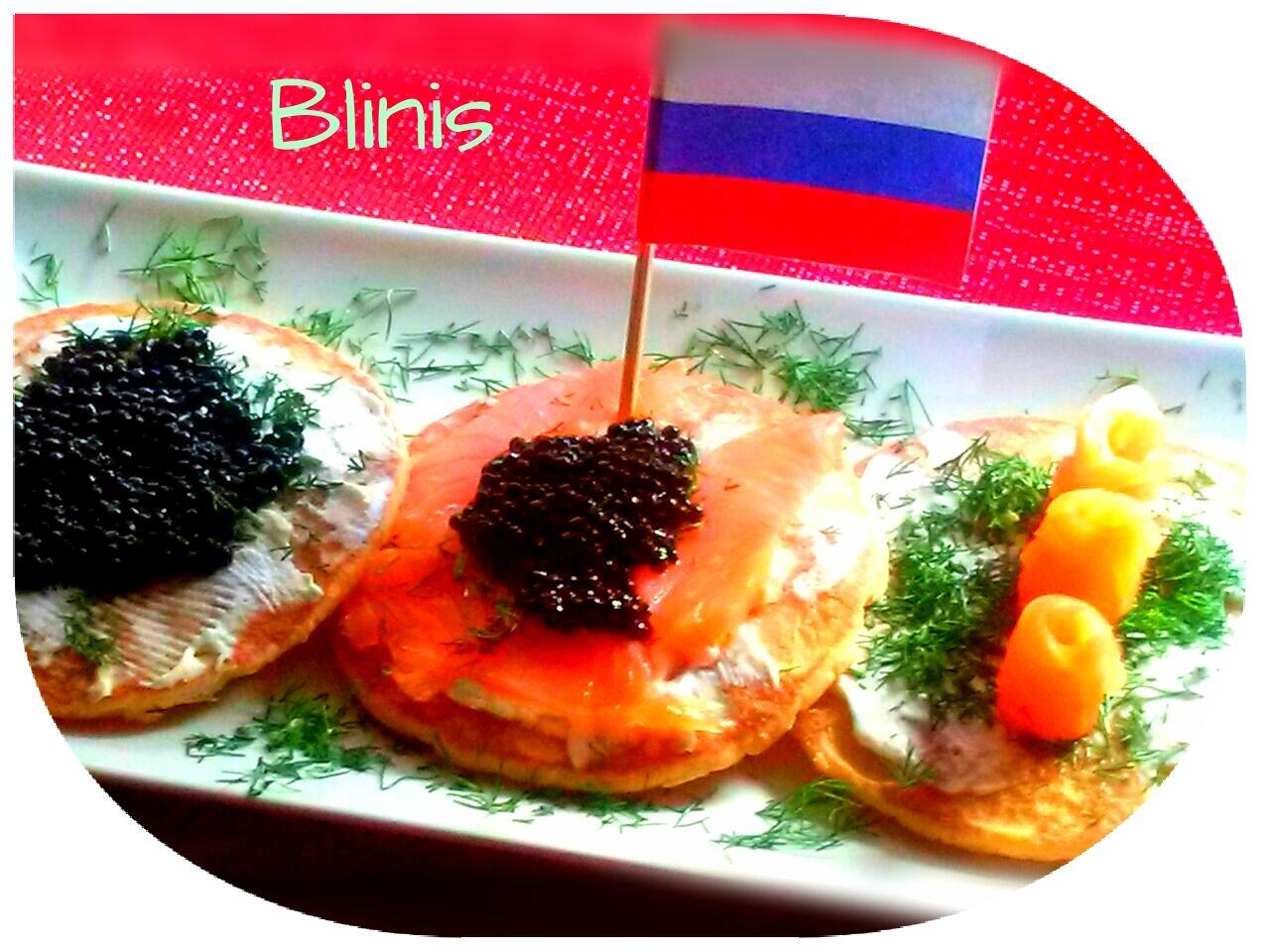 Blinis con Salmón, Rusia. (Cena de Navidad Worldwide)