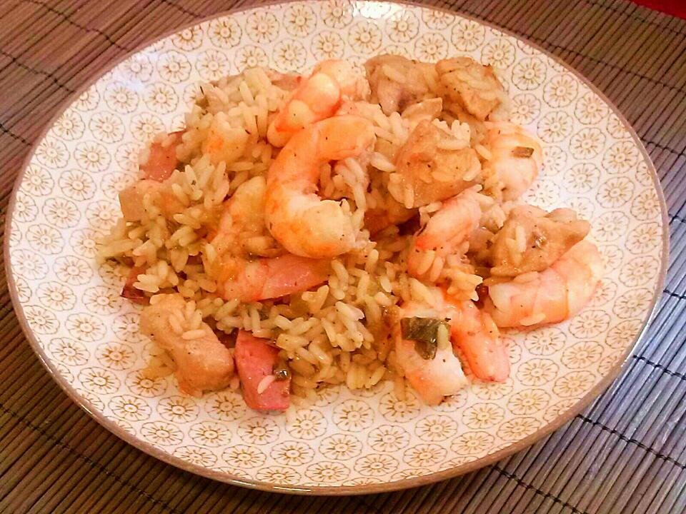 Jambalaya, receta de Nueva Orleans. [Comida americana]