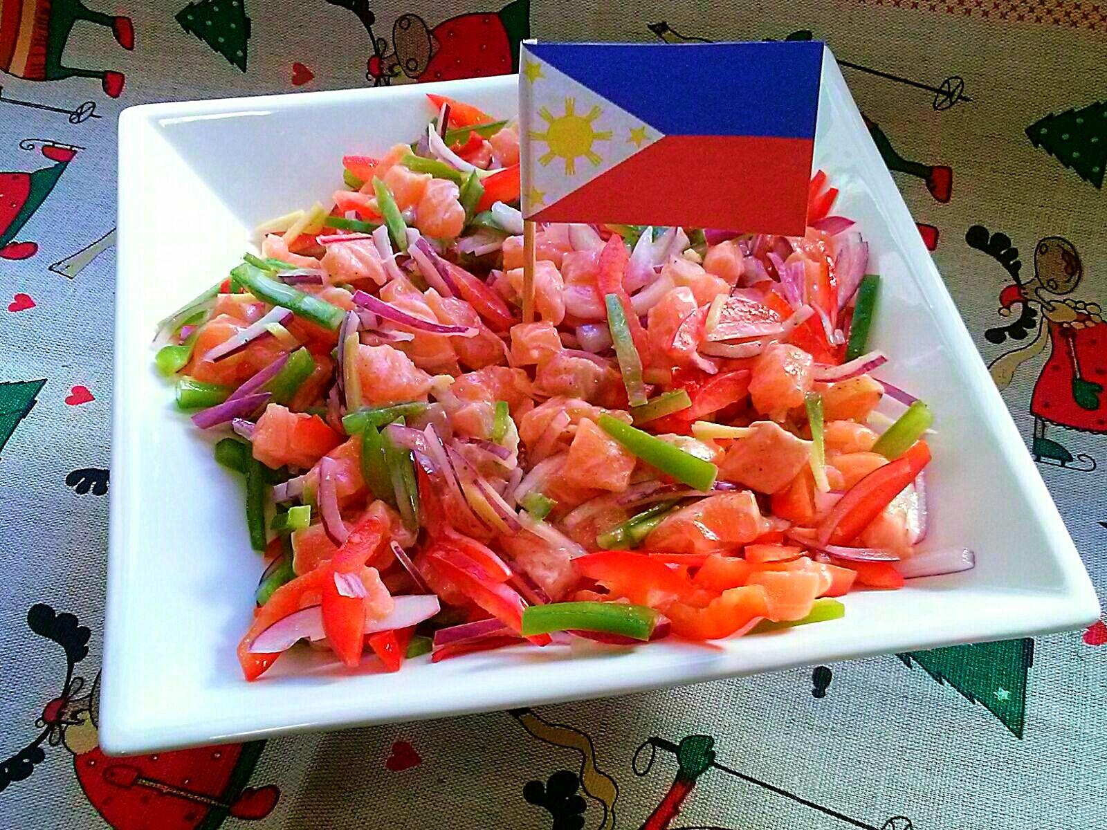 Salmón Kinilaw, Filipinas. [Cena de Navidad Worldwide]
