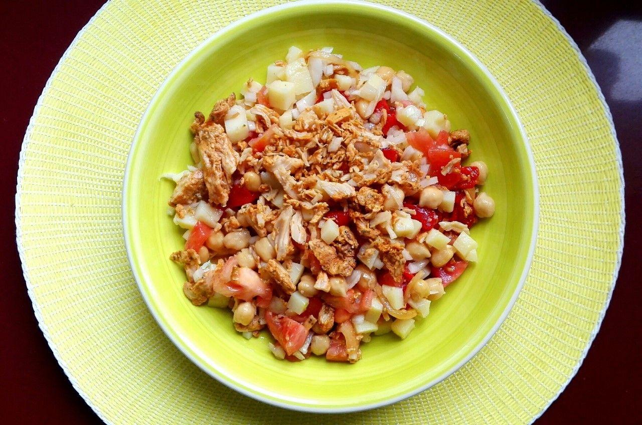 Deliciosa Ensalada con legumbres