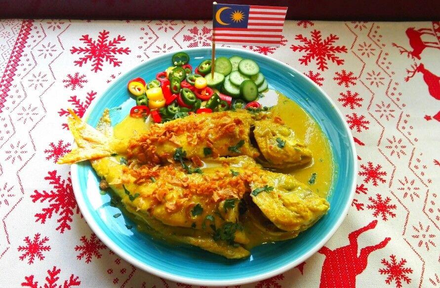 Curry de pescado (IKAN MASAK MOLEK), Malasia. [Cena de Navidad Worldwide]