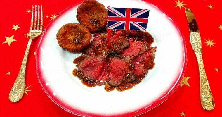 Roast beef de entrecot, Reino Unido. [Cena de Navidad Worldwide]