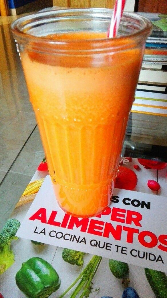 Smoothie antioxidante. [Naranja, Zanahoria y Cúrcuma]