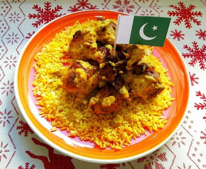 Muslos de pollo tandoori, Pakistán. [Cena de Navidad Worldwide]