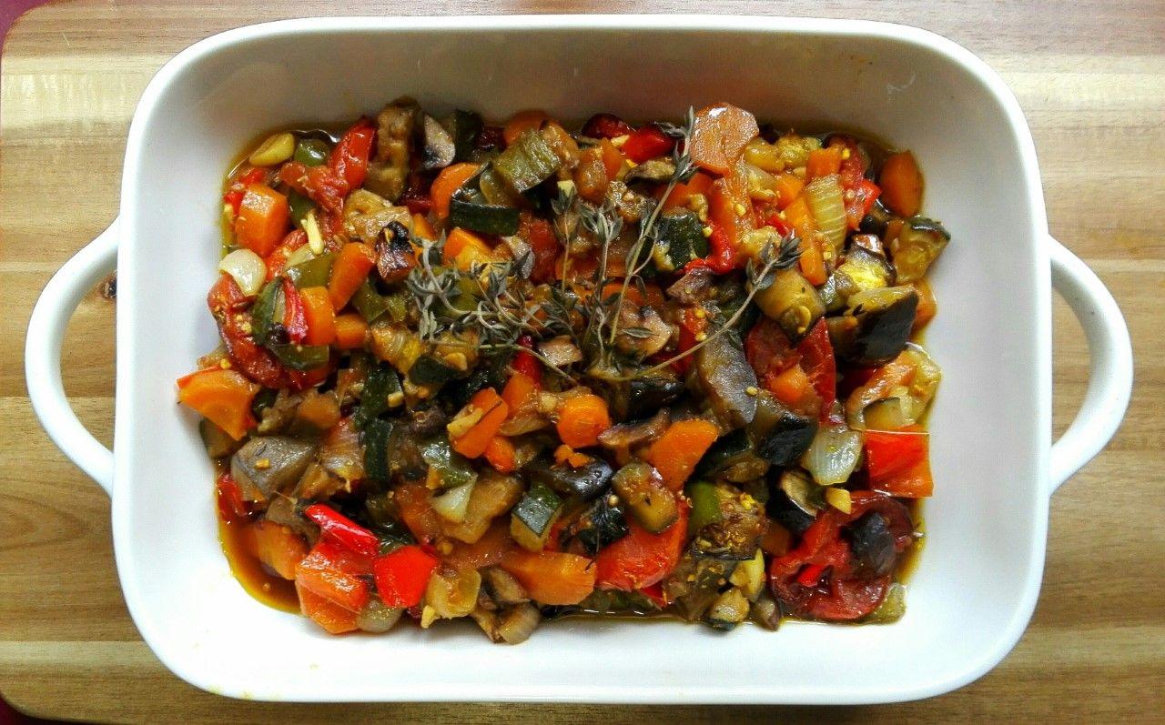 Verduras al horno. [Un plato bajo en calorías]