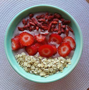 Smoothie bowl con cacao