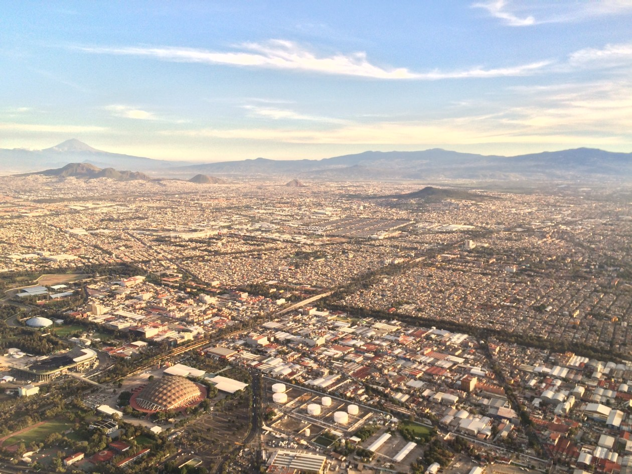 Landing in Mexico