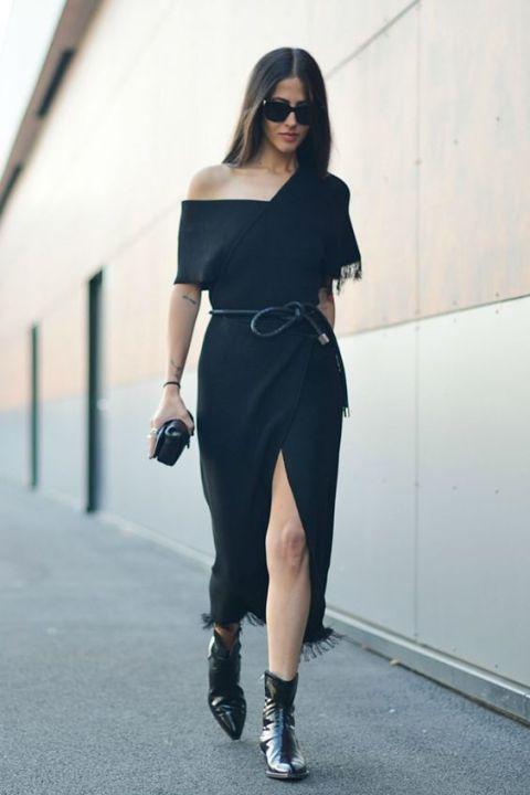 Como usar vestido preto na balada