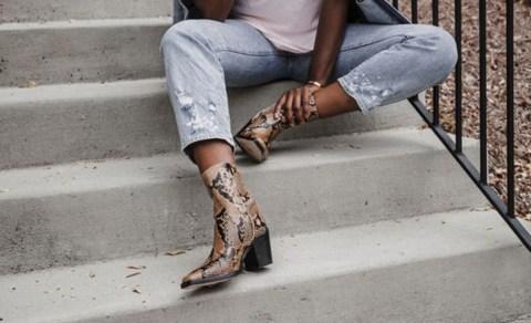 Bota com estampa de cobra: a queridinha das fashionistas