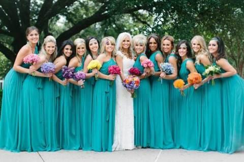 5 vestidos azul tiffany para as madrinhas se inspirarem