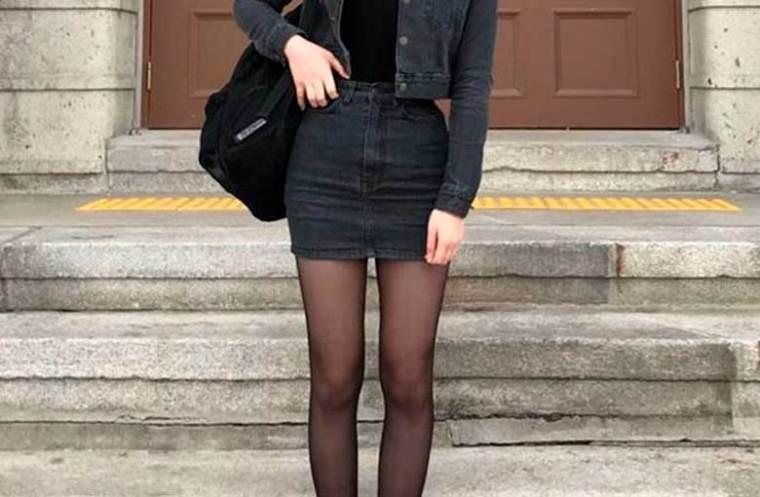 jeans com jeans cinza