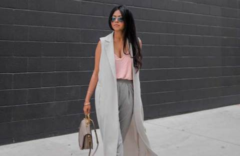 Duo estiloso: cinza + rosa