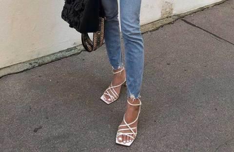 Alerta de tendência: Sandália de bico quadrado