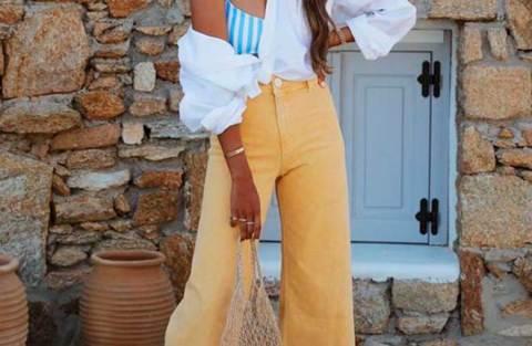 12 maneiras de usar calça amarela
