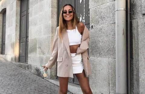 Como usar blazer com roupas curtas