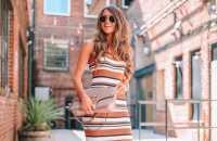 11 Ideias de looks charmosos com vestido listrado