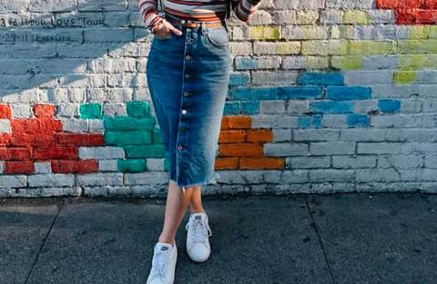 12 maneiras de usar saia midi jeans