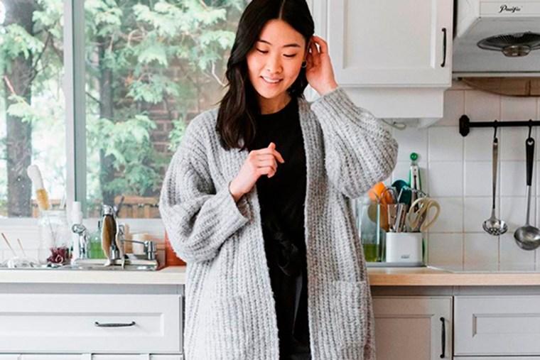 casaco cinza