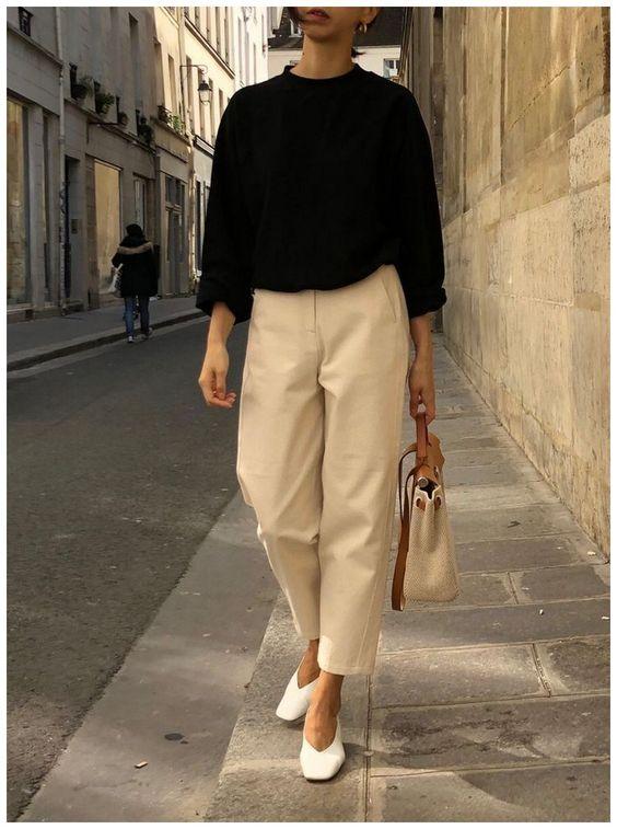 combinacoes minimalistas, calça pantacourt