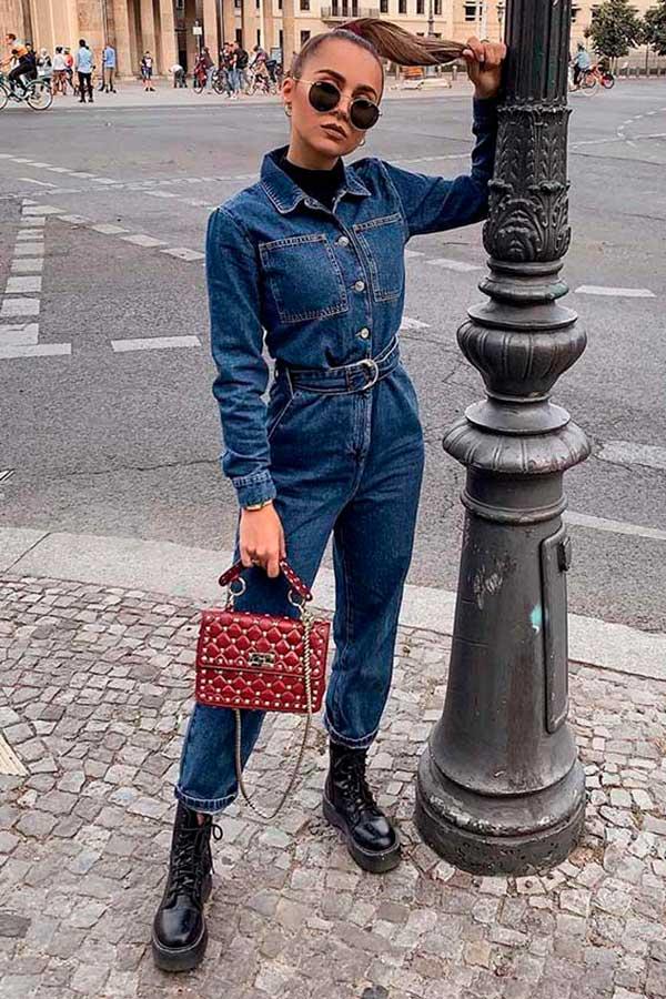 jeans e coturno
