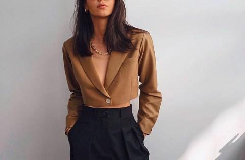 Para usar já: blazer cropped