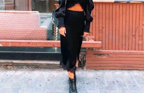 15 maneiras de usar saia midi preta