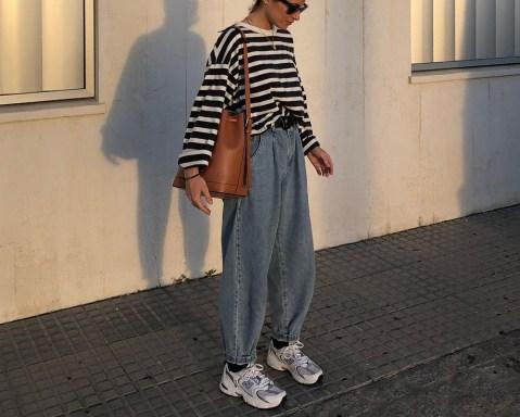 Looks confortáveis com calça slouchy e tênis