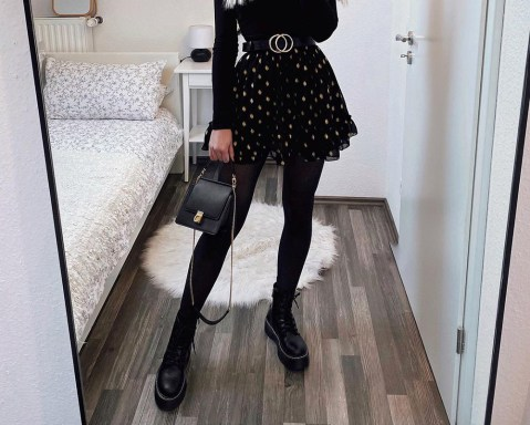 15 Ideias de looks all black com coturno