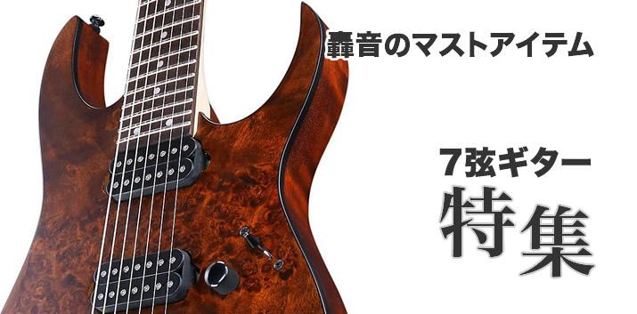 轟音のマストアイテム「7弦ギター」特集