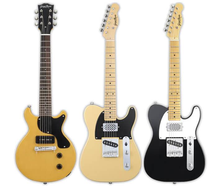 GrassRootsシングルコイル1基のアンプ内蔵ギター