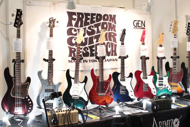 Freedom Custom Guitar Researchブース
