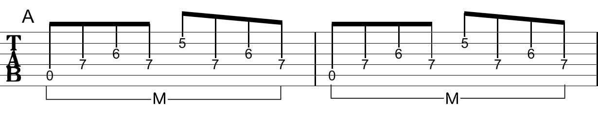 アルペジオの工夫:Tab譜4