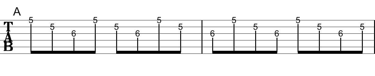 アルペジオの工夫:Tab譜5