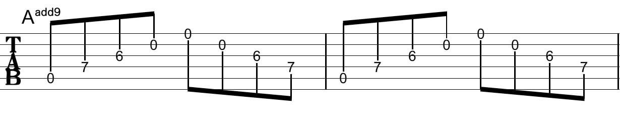 アルペジオの工夫:Tab譜6