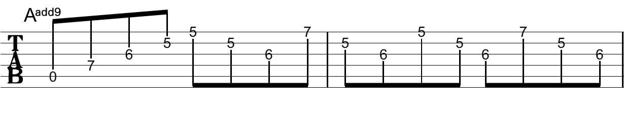 アルペジオの工夫:Tab譜7